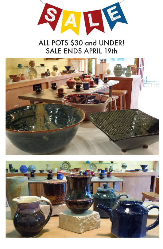 All Pots $30 and Under!