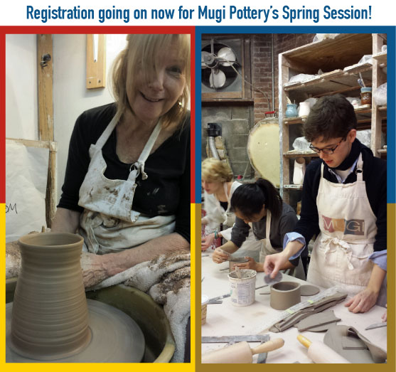 Registration going on now for Spring Pottery Classes
